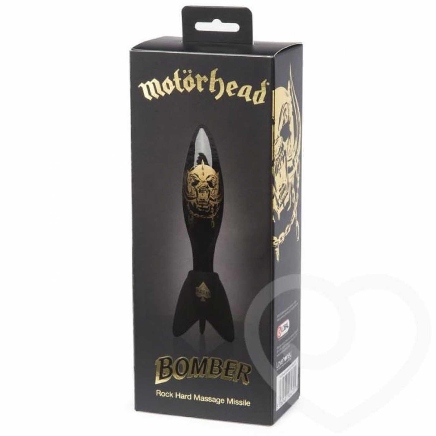 Motorhead Фаллоимитатор стеклянный черный с золото
