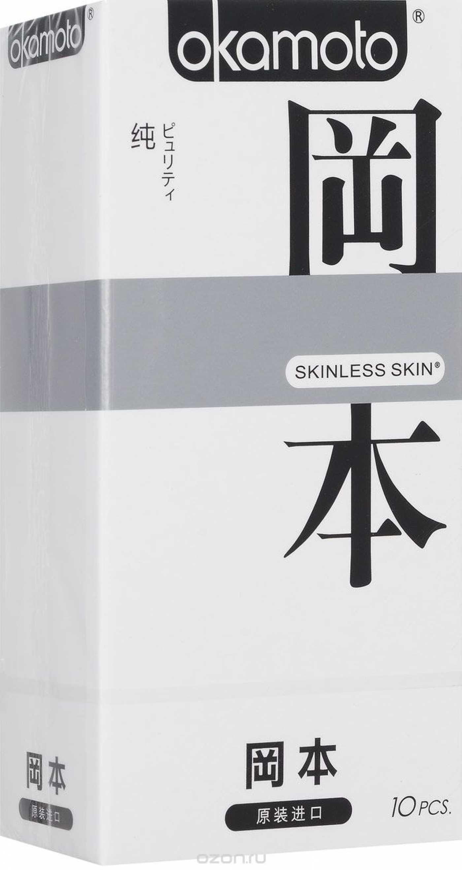 """Презервативы """"OKAMOTO SKINLESS SKIN"""" PURITY №10 (сверх-тонкие, сверх-чувствительные)"""