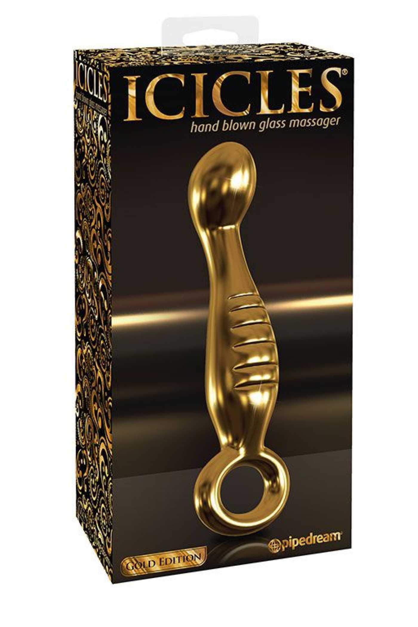 Анальный стимулятор ICICLES Gold Edition 04
