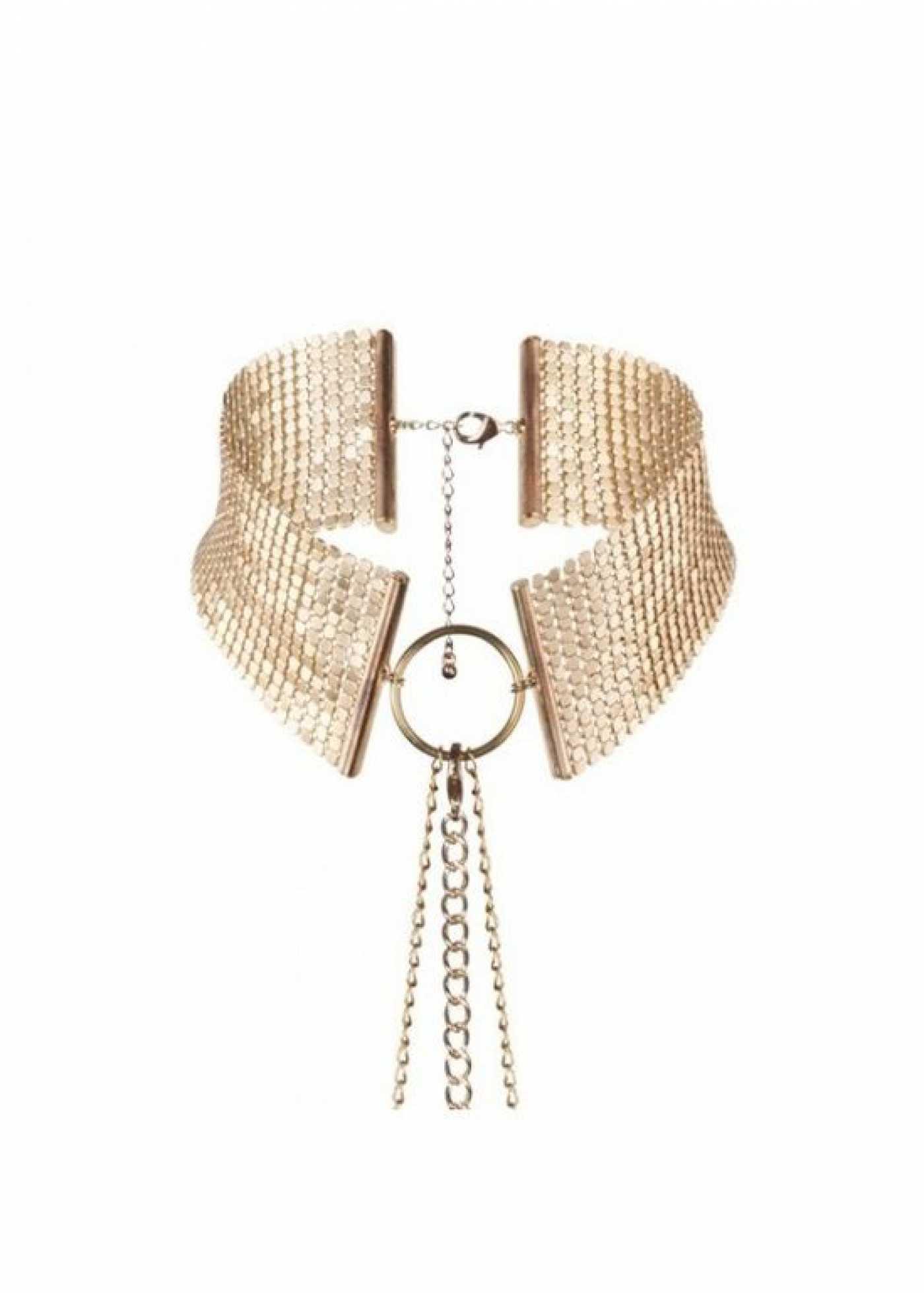 Bijoux Ошейник из металлической сетки золотой