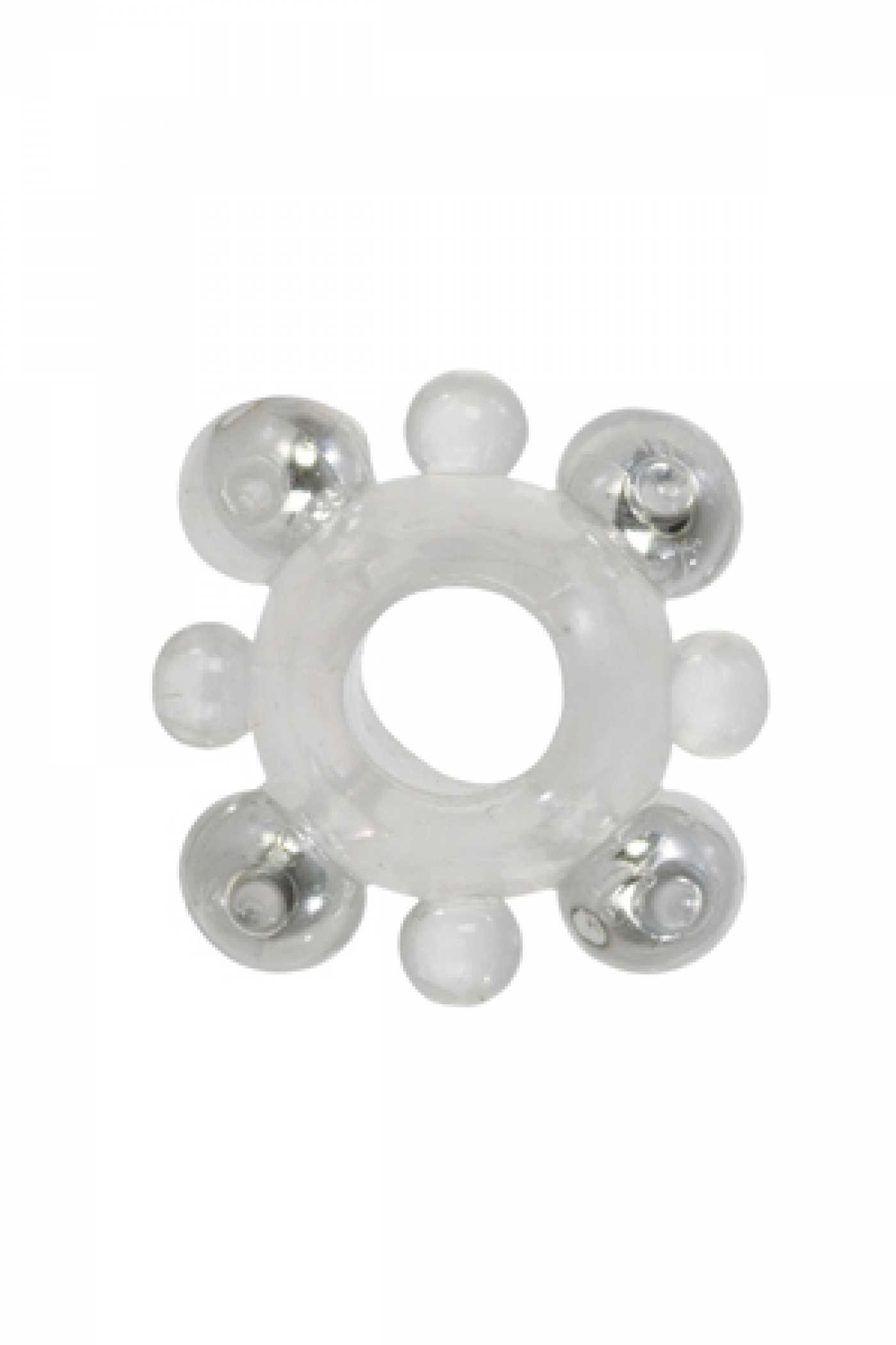 Эрекционное кольцо Basic Essentials  с бусинами пр