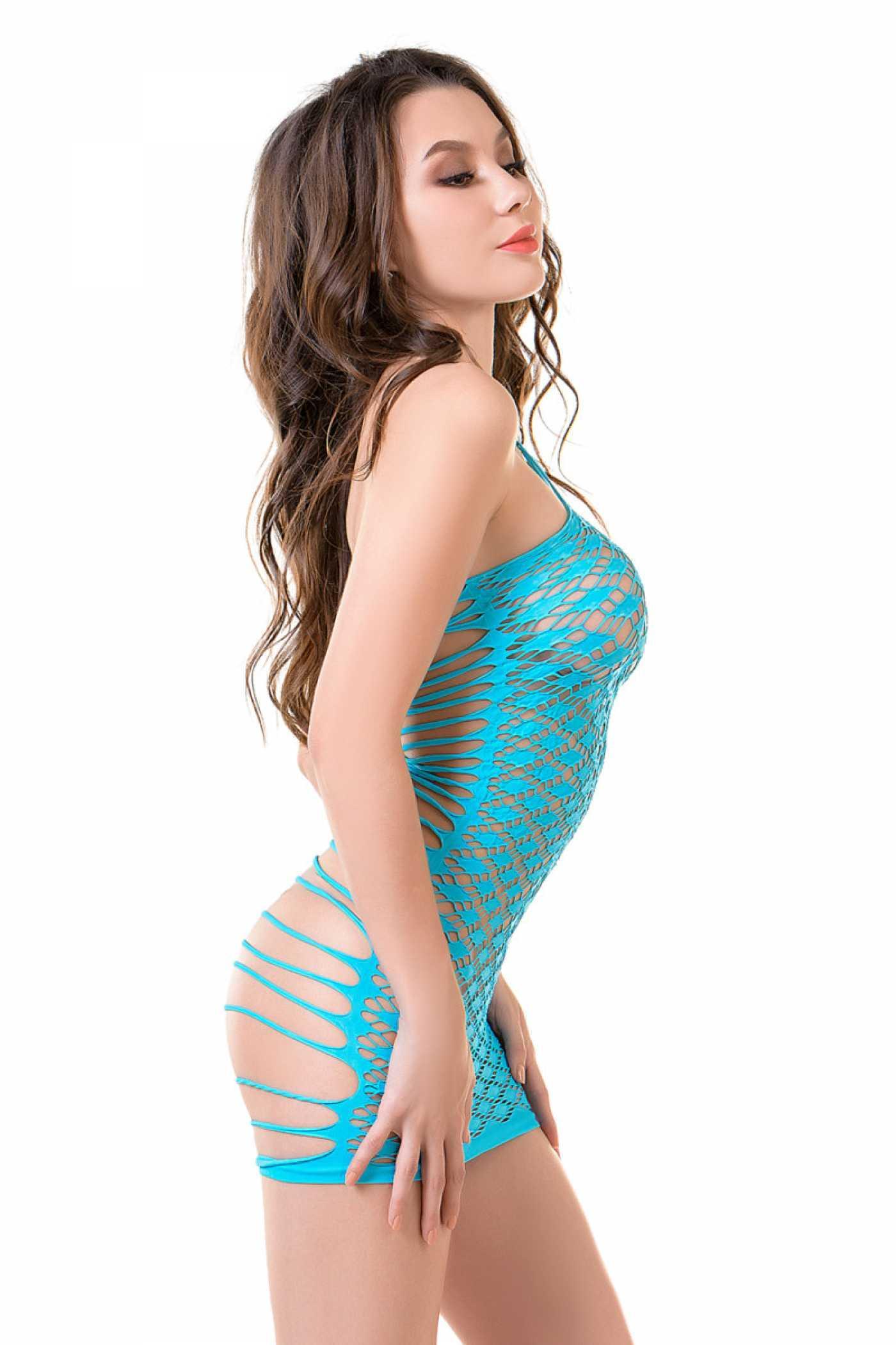 Платье-сетка Joli Lanikai голубой