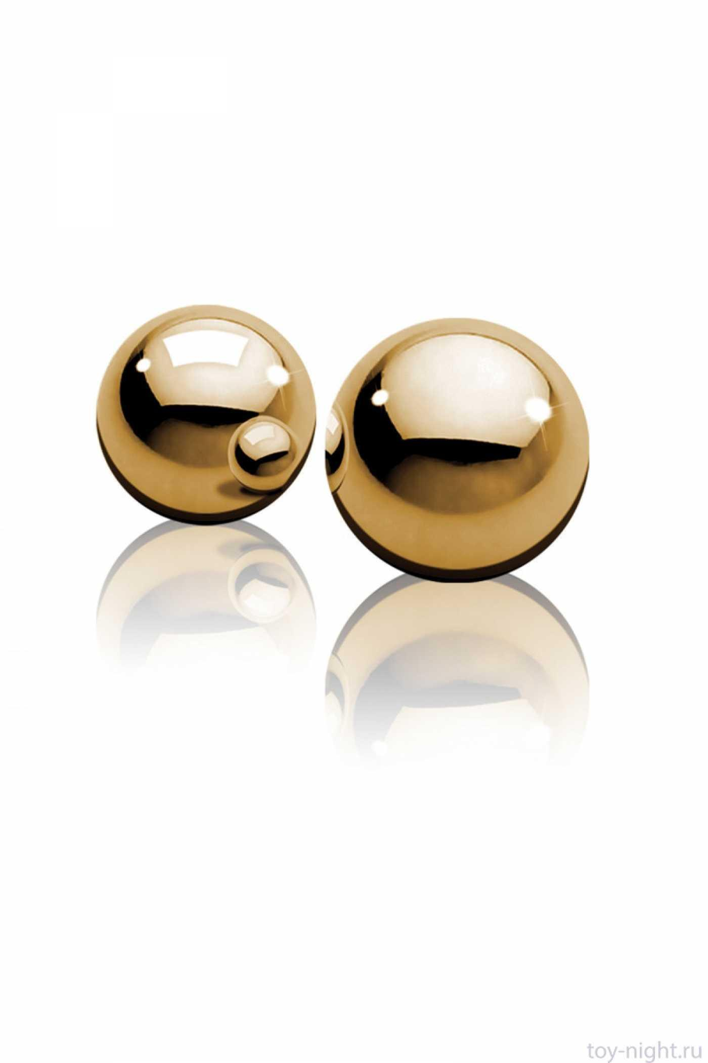 Вагинальные шарики Ben Wa золотые