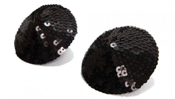 Bijoux Indiscrets Украшение на грудь SEQUIN черное