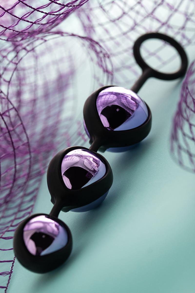Вагинальные шарики TOYFA A-Toys, фиолетовый, Ø 3,5 см