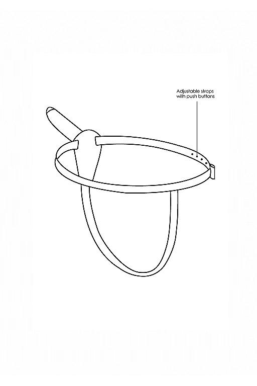 Страпон Adjustable с вибрацией