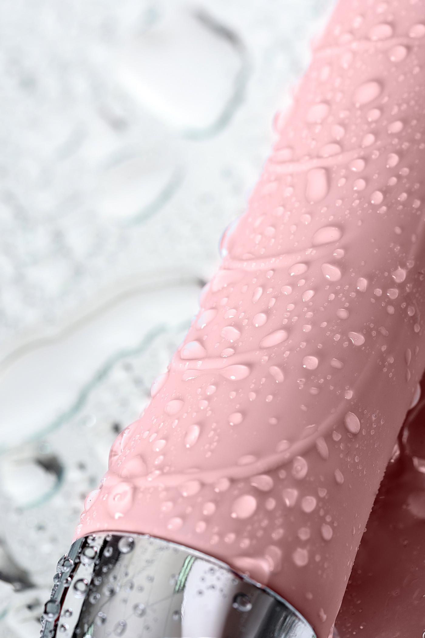 Вибратор с функцией нагрева и пульсирующими шариками PHYSICS FAHRENHEIT, силикон, розовый, 19 см