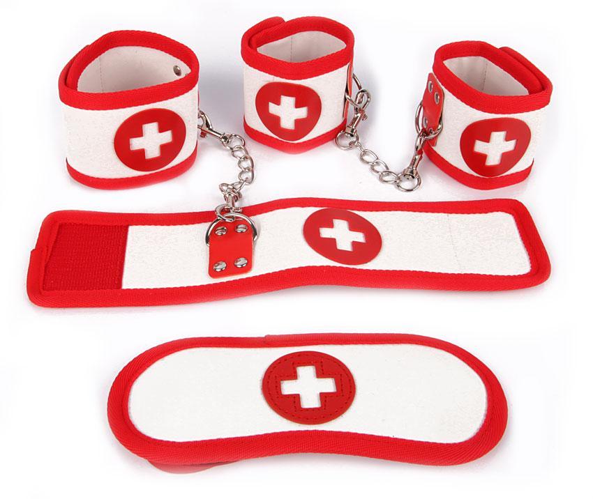 КОМПЛЕКТ (наручники, оковы, маска) PVC