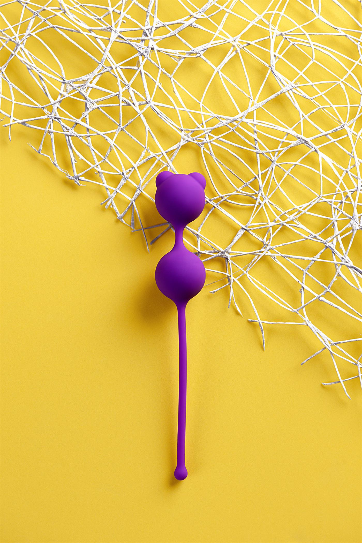 Вагинальные шарики A-Toys by TOYFA, силикон, фиолетовые, Ø 2,7 см