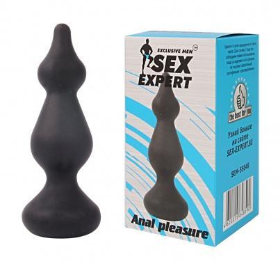 Втулка анальная цвет чёрный, L 100 мм D 23x30 мм Sex Expert