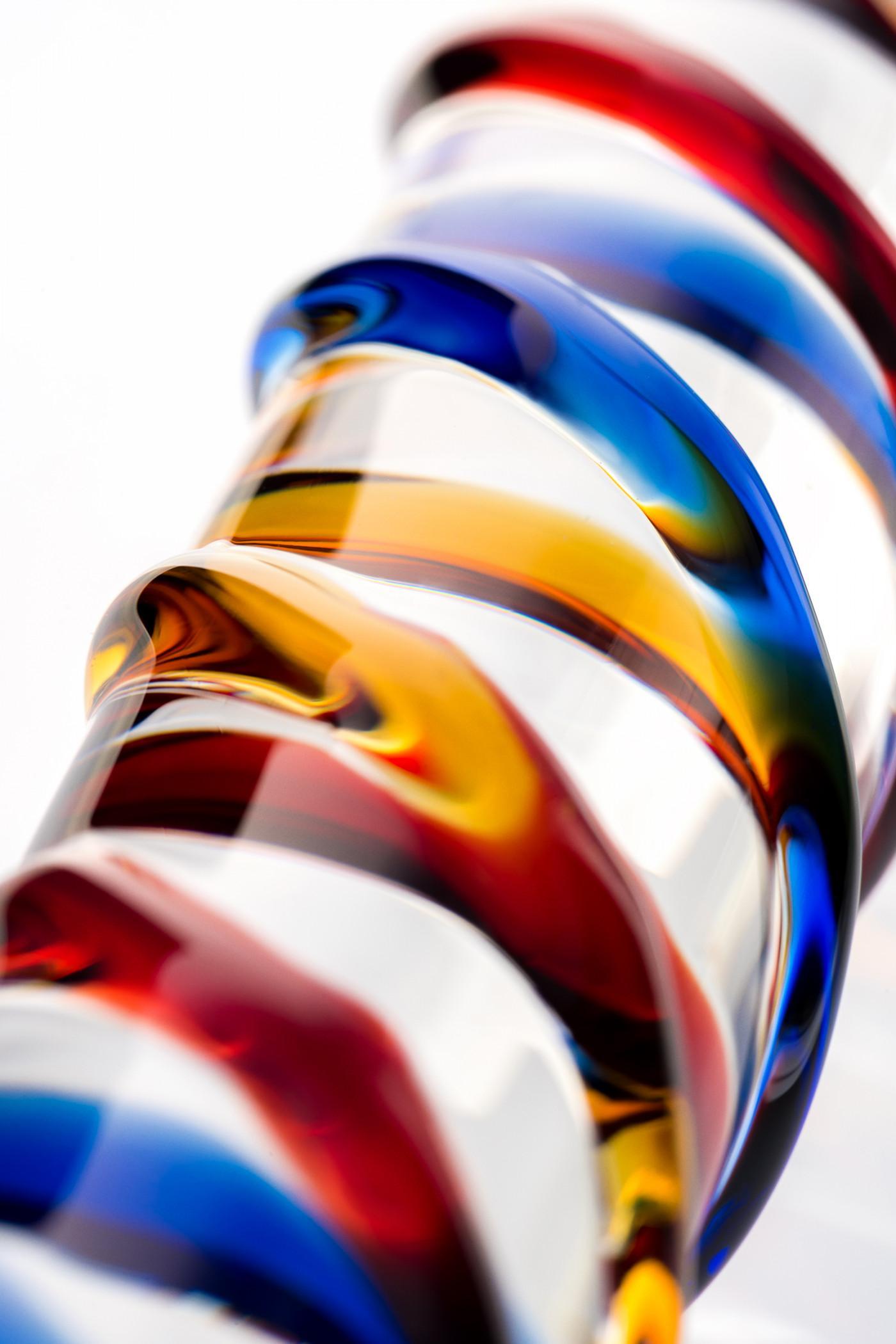 Нереалистичный фаллоимитатор Sexus Glass, Стекло, Прозрачный, 19,7 см